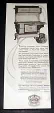 1921 OLD MAGAZINE PRINT AD, GARLAND COMBINATION COAL AND GAS RANGE, EFFICIENCY!