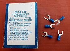 "100 Thomas & Betts RB14-14F Sta-Kon Fork Connector 18-14AWG 1/4"" Bolt Nylon"