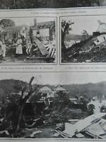 Hurricane's Aftermath Jamaica Port Antonio Kingston destruction 1903 old print