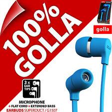 Golla Oreillettes Superduct Bleu écouteurs écouteurs intra-auriculaires pour MP3