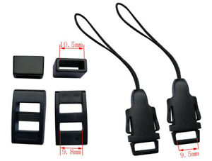 Camera Strap Quick Release Clip Adapters and Buckle Kit (pair) - UK STOCK