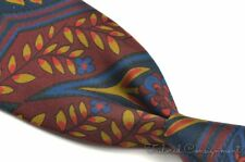 TURNBULL & ASSER Colorful Floral Geo Abstract 100% Silk Mens Luxury Tie - 3.50""