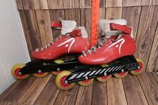 Raps Sensation Vintage Red Skates Roller Blades 5 Wheels Made in Holland