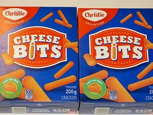 CHRISTIE Cheese Bits Crackers 2x200g New 2 boxes