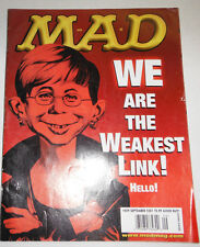 Mad Magazine We Are The Weakest Link September 2001 091814R