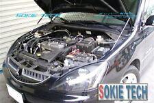 03-06 Mitsubishi Lancer Silver Carbon Strut Lift Hood Shock Stainless Damper