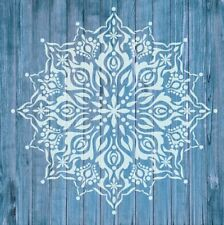 Stencil Mylar Reusable Wall Art Furniture Fabric 0140 MANDALA 200mm x 200 mm