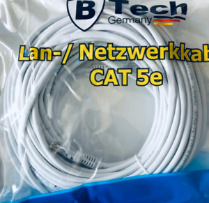 Netzwerkkabel DSL Netzwerk Cat5e Lankabel Internetkabel LAN Kabel 3,5,10,20,30m