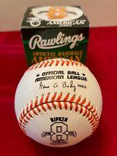 Cal Ripken Jr #8 2131 Logo Baseball Brand New in Box MLB HOF