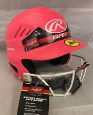 Rawlings Vapor Softball Batting Helmet Pink *Fastpitch* w/ chin strap Sz 6.5-7.5