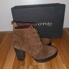 MARC O`POLO Stiefelette Bootie Echtleder brown Gr.39 38.5 UK5.5 NEU&OVP NP169,90