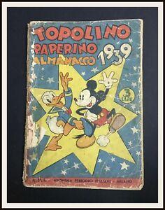 ⭐️ TOPOLINO PAPERINO ALMANACCO 1939 (2º  copia) - Mondadori - DISNEYANA.IT ⭐️