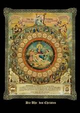 Die Uhr des Christen Jesus Christus Lebensweg Leidensweg Bütten Sankt A3 0045