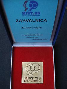 "Croatia, Table Tennis - ""MIST '96"" medal with letter of thanks, Split, 1996"