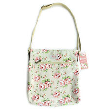 Millie Floral Pink Roses Oilcloth Cross Strap Body Messenger Hand Bag Gift