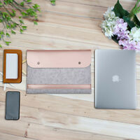 Macbook Sleeve Bag Leather Case Cover for Laptop Organizer For MacBook Business