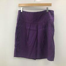 Hugo Boss Skirt UK 12 Women Purple Short Zip Up Pockets Casual Smart Wear 282871