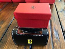 Genuine Ferrari Desk Business Card Holder in Black leather Extremely RARE Italy