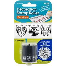 Plus Corp. Decoration Stamp Roller Black Ink Cartridge only 'OWLS'  152173