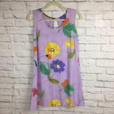 Jams World Hawaiian Dress Small Floral Water Flower Purple Sleeveless Short