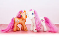 My Little Pony G3 2002 Glitter Celebration Strawberry Swirl & Sparkleworks