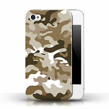 Stuff4 Phone Case/back Cover for Apple iPhone 4s /army/navy/camouflage Brown 1