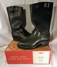 New Wesco Boss Black Leather Motorcycle Engineer Boots size 8.5D Style 7700100