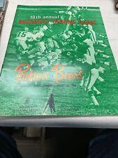 Green Bay Packers VS Chicago Bears NFL 1968 game program Excellent Shape