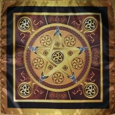 Magic tablecloth Wicca Earth Star - Magic Power of the Earth Small size 16x16 CA