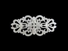 Vintage Inspired Rhinestone Clear Crystal Cross Brooch Wedding Party