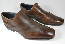 Clarks brown leather wingtip brogue shoes uk 8 eu 42