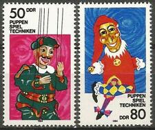 Germany (East) DDR 1984 MNH - Art Theatre - String and Hand Puppets
