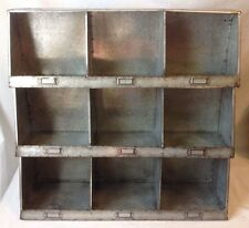 Galvanized Wall Cubbies Organizer Country Farmhouse Industrial