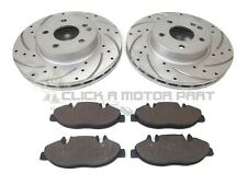 MERCEDES VITO 2004-2014 FRONT DRILLED & GROOVED BRAKE DISCS AND MINTEX PADS