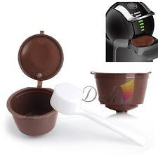 2x Réutilisable Compatible Café Capsules Dosettes pour Dolce Gusto avec Cuillère