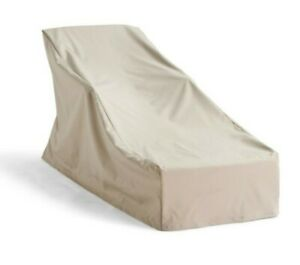 Frontgate Universal Chaise Cover Medium TAN Lined w/ Ties 160481 (NEW)