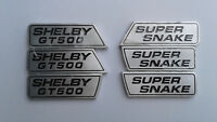 Shelby GT500 Super Snake Wing Emblem Set Rare, New ORIGINAL OEM SHELBY OBSOLETE