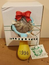 Charming Tails 1996 Baby'S First Christmas 87/850 pacifier New