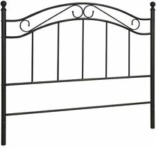 full queen size bed headboard traditional metal black bedroom frame furniture