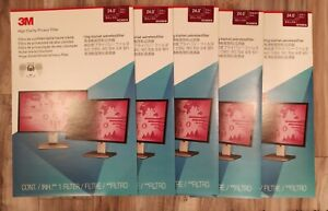 """Lot of 5 - 3M HC240W1B 24"""" inch High Clarity Privacy Screen Filter Wide Screen"""