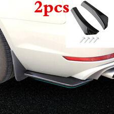 2pcs Black Car Rear Bumper Lip Diffuser Splitter Canard Protector Accessories