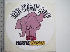 Aufkleber Sticker Hertie Reisen - Touristik - Urlaub - Elefant 80er Decal (6991)