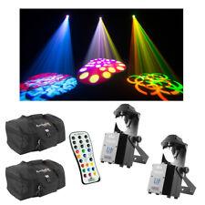 (2) Chauvet DJ Lighting Intimidator Scan 305 IRC Scanner Light w/ Remote & Bags