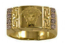 10K Men's Designer Gold Ring - Real Gold with 8 CZ *New with Box*