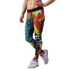 Women's Reebok CrossFit Reversible Tights Wicking Leggings Training Sports