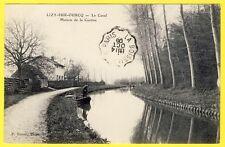 cpa 77 - LIZY sur OURCQ Seine et Marne) Le CANAL MAISON de la CANTINE Barques