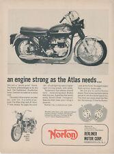 1965 Norton 750 Atlas Vintage Motorcycle Ad Berliner Motor Corp New Jersey NJ