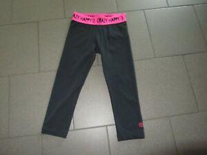 Zumba Wear Sporthose /Gr. XS Tights knielang schwarz mit pinkem Bund neuw.