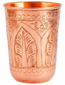 New Copper Drinking Water Glass Tumbler Mug Cup For Ayurveda Health Benefits