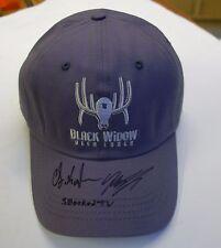 BLACK WIDOW DEER LURES - SMOKED TV SIGNED BASEBALL CAP